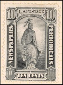 10c gray black Statue of Freedom single