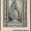 2c gray black Statue of Freedom partial imprint single