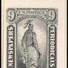 9c gray black Statue of Freedom single