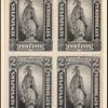 2c black Statue of Freedom block of four