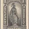 1c black Statue of Liberty single