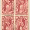 25c carmine Justice block of four