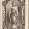 10c black Statue of Freedom single