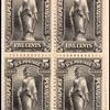 5c black Statue of Freedom block of four