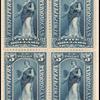 $5 dark blue Clio block of four