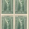 $10 green Vesta block of four