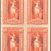 $2 scarlet Victory block of four
