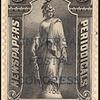 5c black Statue of Freedom overprint single