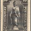 10c black Statue of Freedom overprint single