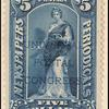 $5 dark blue Clio overprint single