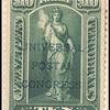 $10 green Vesta overprint single
