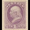 1c purple Ben Franklin single