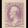 6c purple Lincoln single