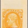 10c yellow Jefferson Specimen single