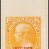 15c yellow Webster Specimen single
