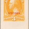 3c yellow Washington Specimen single
