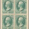 2c green Jackson trial color proof block of four