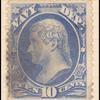 10c ultramarine Jefferson single