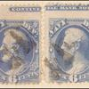 6c ultramarine Lincoln imprint pair