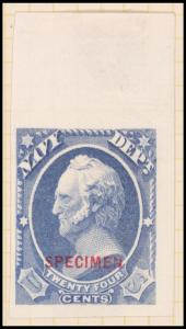 24c ultramarine Scott Specimen single