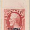 6c carmine Lincoln Specimen single