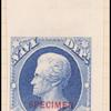 2c ultramarine Jackson Specimen single