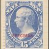 15c ultramarine Webster Specimen single