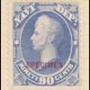 90c ultramarine Perry Specimen single