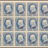 1c ultramarine Franklin Specimen block of 18