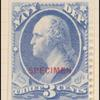 3c ultramarine Washington Specimen single