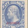 10c ultramarine Jefferson Specimen single