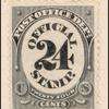 24c black numeral single
