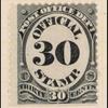 30c black numeral single