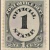 1c black numeral single