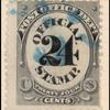 24c black post office department official single