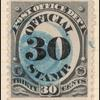 30c black post office official single