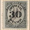 30c black post office department official single
