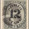 12c black post office department official single