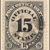 15c black post office department official single