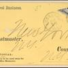 6c black post office official bisect on cover