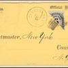 6c black post office department official bisect on cover