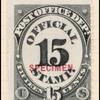 15c black numeral specimen single