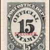 15c black numeral specimen single
