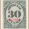 30c black numeral specimen single