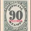 90c black numeral specimen single