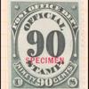 90c black numeral specimen single