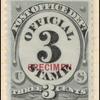 3c black numeral specimen single