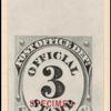 3c black numeral specimen single