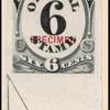 6c black numeral specimen single