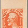 6c vermilion Lincoln specimen single